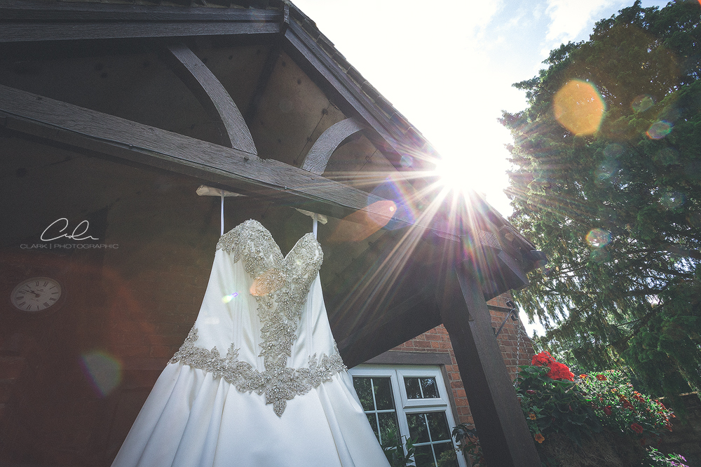 wedding dress sunburst Derby Wedding Photographer.jpg
