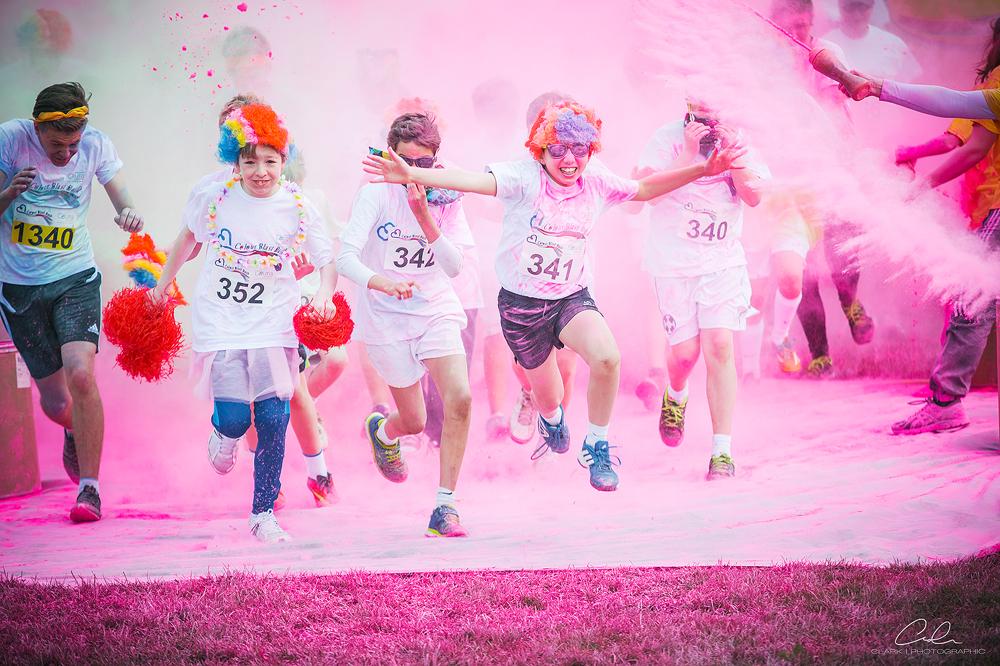 colour blast dash start Derby UK Event Photography Clark Photographic.jpg