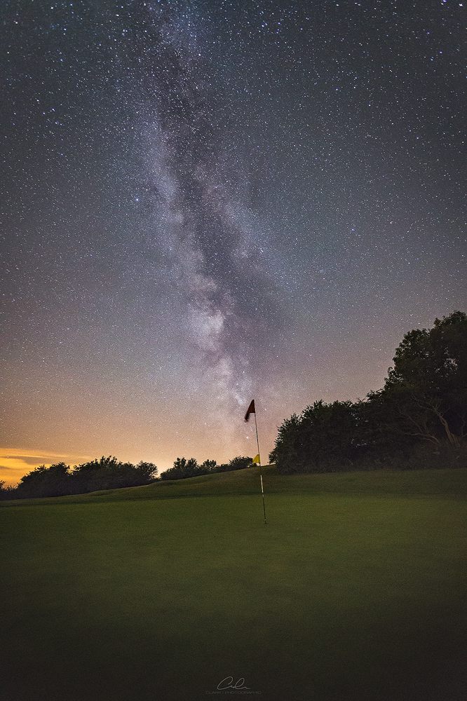 golf flag milky way landscape photography derby fine art clark photographic.jpg