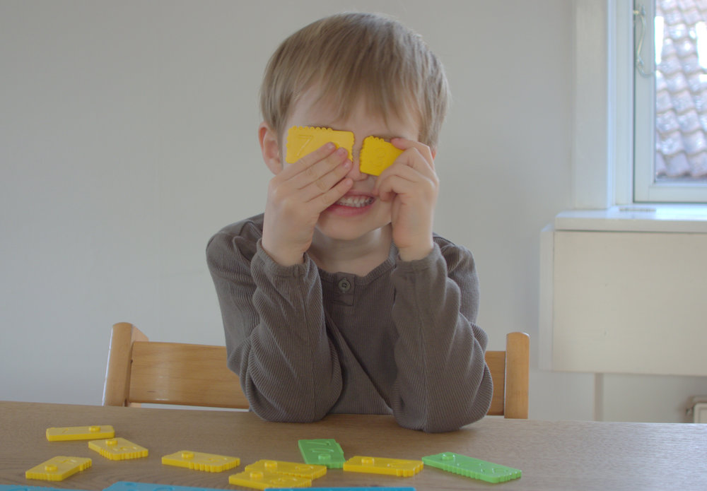 Sensory toys for kids with the newmero bricks - The Joy of Numbers.
