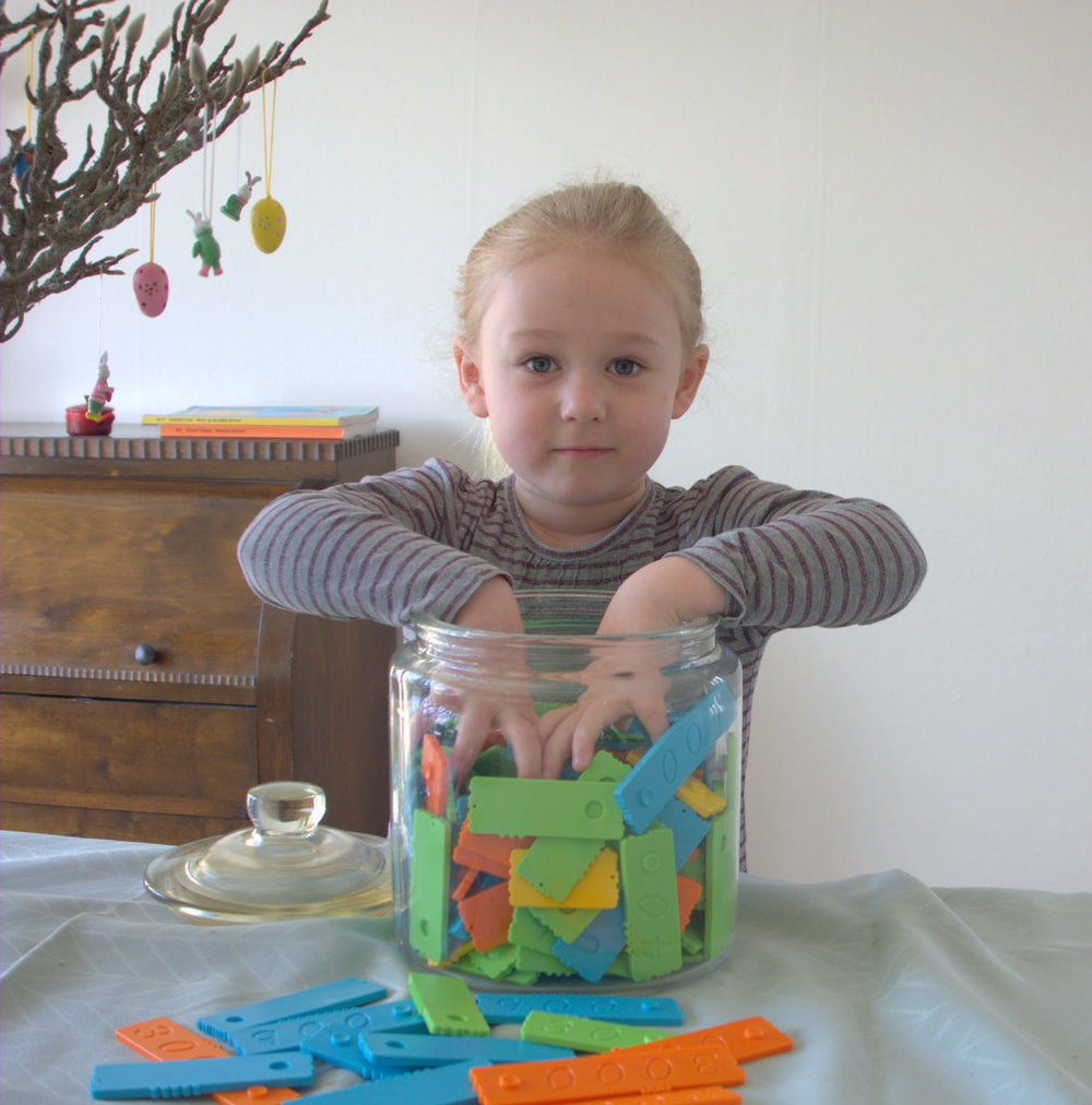 Sensory toys for toddlers with the newmero bricks - The Joy of Numbers