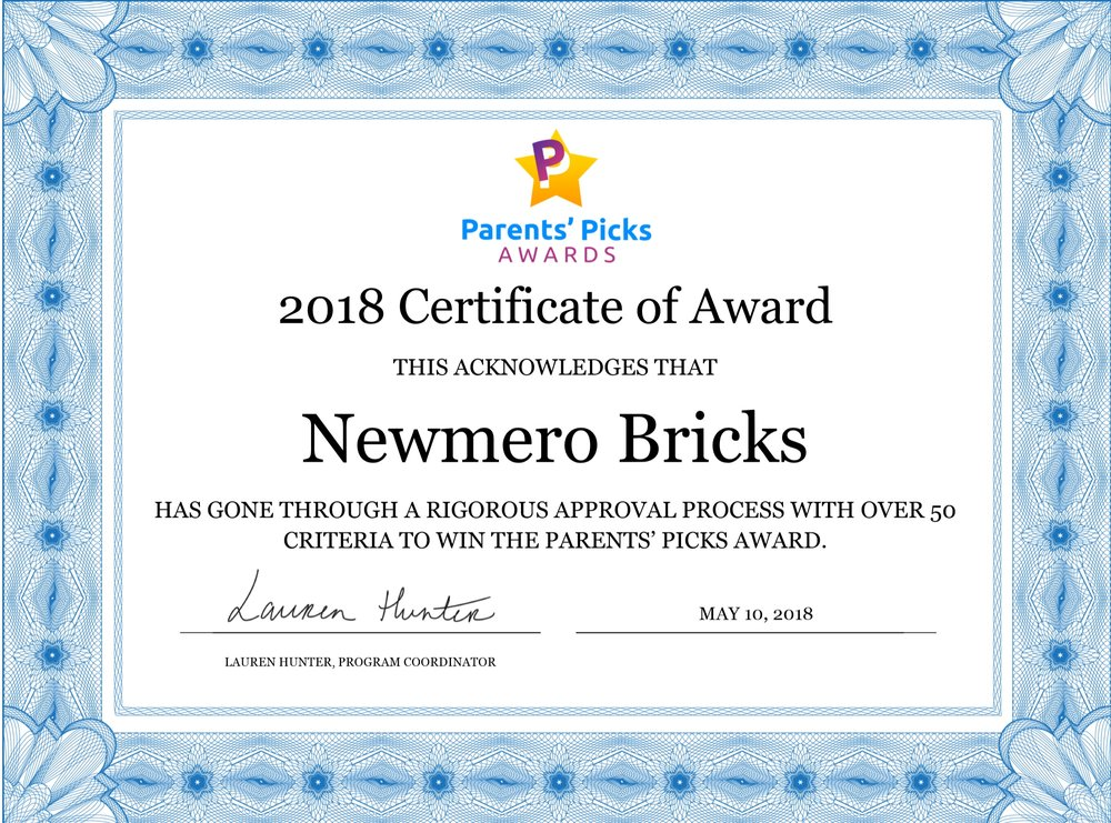 newmero parents pick award diploma