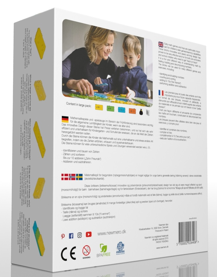 packaging - Carton Box dimensions (LWH): 22 x 7 x 24 cmWeight: 0,86 kg5 pcs bundled in a brown carton box: 37 x 24 x 26 cm.Weight: 4,44 kg.Product nr. West Europe: EU-010-01EAN Bar code West Europe: 5714449000006(old Bar code: 5700002026408)Product nr. East Europe: EE-010-01  EAN Bar code East Europe: 5714449000105