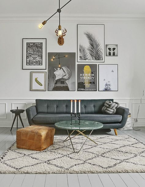 mixed complimentary group for gallery wall - credit Coco Lapine Design