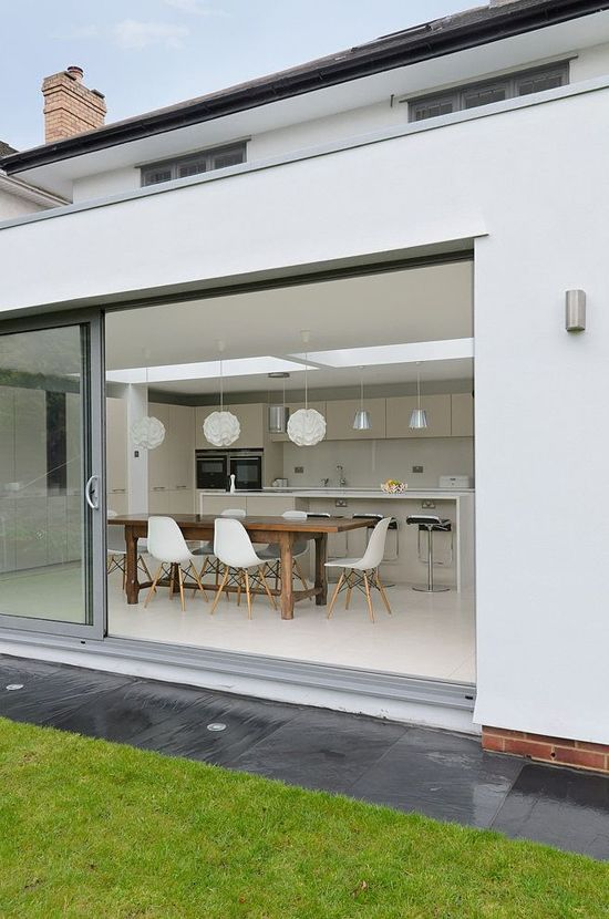 Sleek modern extension with clean lined kitchen from Phil Spencer