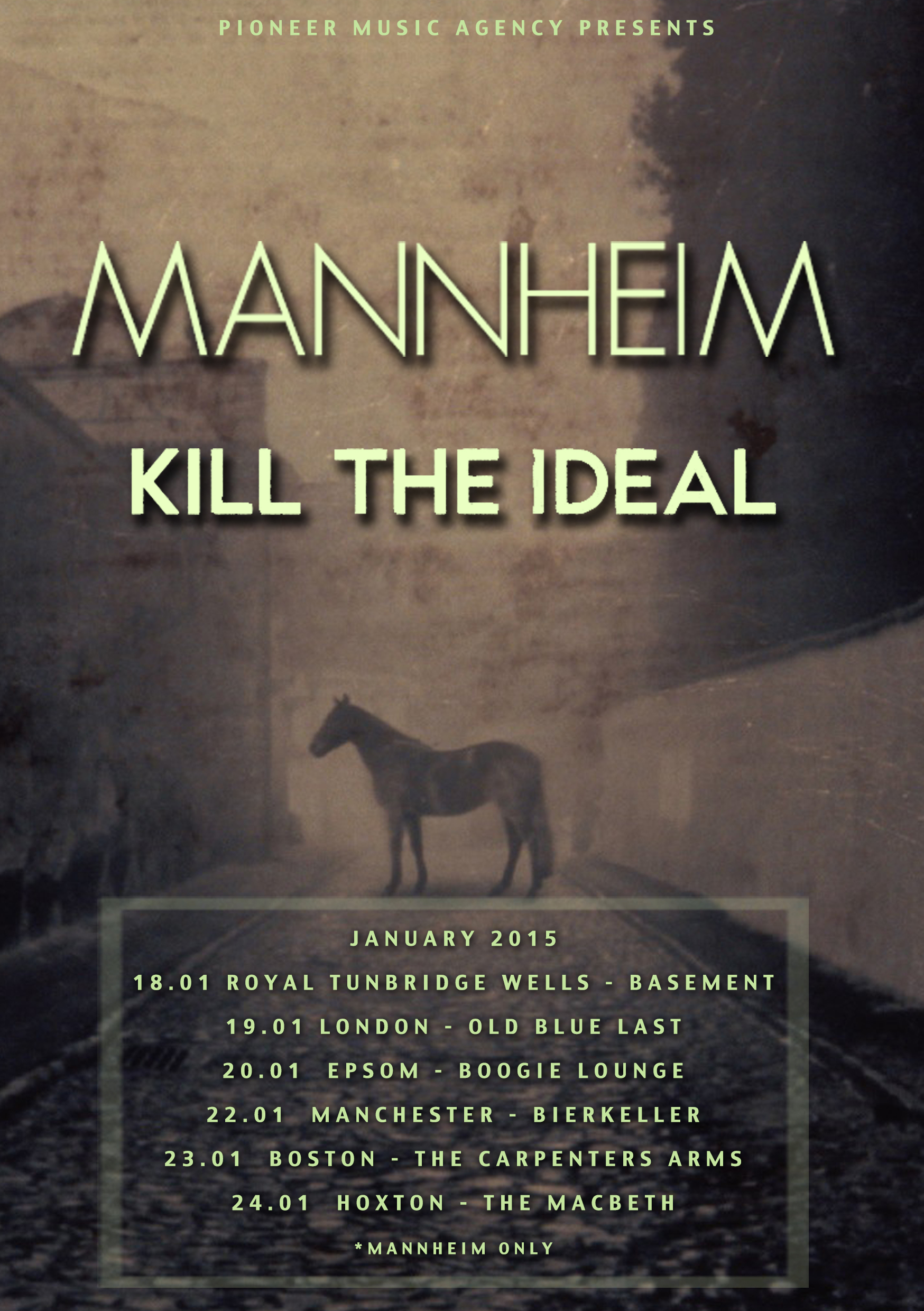 Mannheim band uk tour