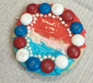 A patriotic sugar cookie.