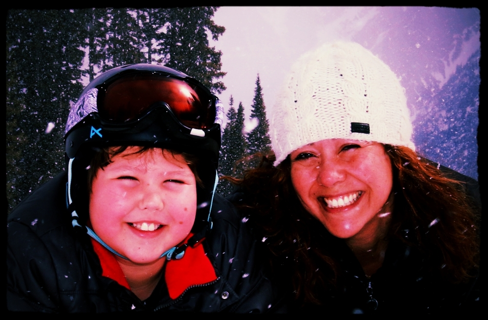 My son and I on the mountain in Purgatory, Colorado.  Really.  Purgatory.
