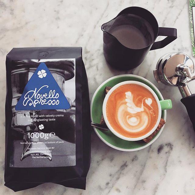 Say Hello New Coffee ☕️ #espressowest  #boccacoffee  #whatelse  #novellocoffee  #newbrand  #roastedbylexwenneker #worldbaristachampionship  #secondplace  #2018 #comeandtastetheflavor  #itsfabulous  #weloveit  #coffeemadeby @_donovandg  #baristaboy  #andheishandsome  #sogirlsandboys #comevisitandgetyourcoffeefromdonovan