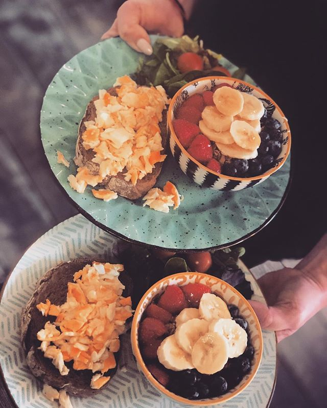 Breakfast at Pistache  #wealllovebreakfast  #breakfastattiffanys  #scrambeledeggs  #greekyogurtwithgranola  #healtybreakfast  #startyourdayright  #visitpistache #wekeepyouwarm  #fallishere