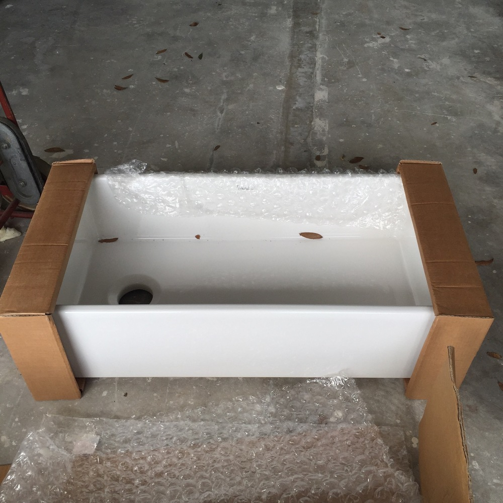 Our bath tub... I mean sink.
