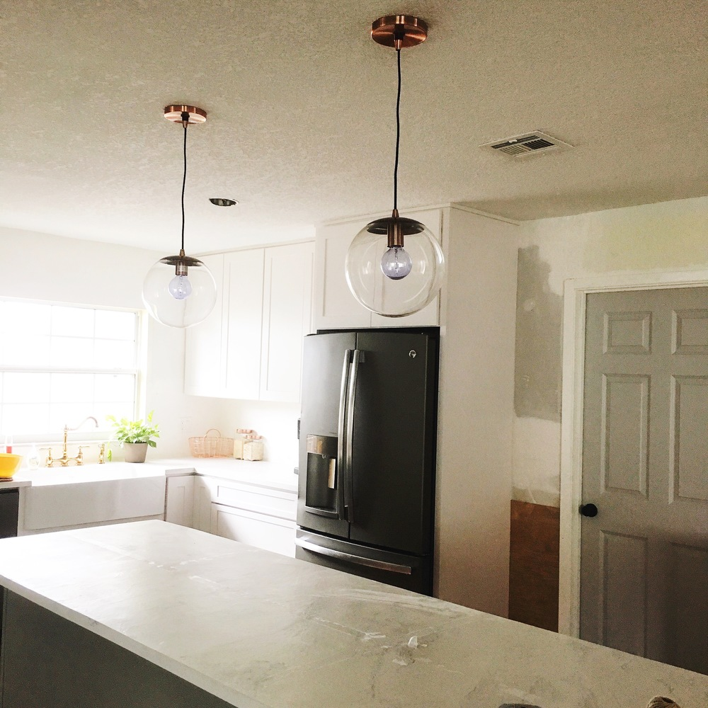 On the *bright* side, we do have kitchen lights now...