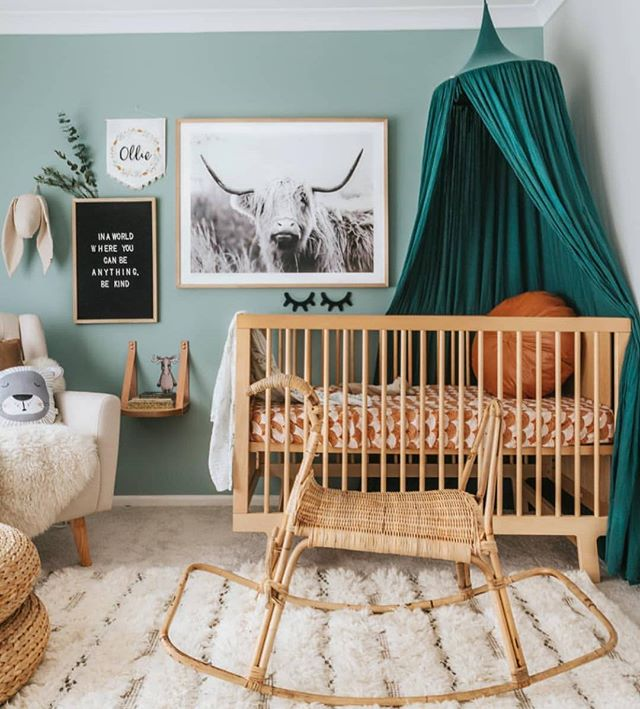 Well guys, I have been super MIA on here. Mainly because I've been working on my biggest project yet - growing a human! 🤰🏼Needless to say, I've got nursery design on the brain - love this boho one by @indi_and_bear 💕 #babygaspo #studiogaspo #nurseryinspo #interiordesign #augustbaby #pregnancy #nurserydesign #bohonursery