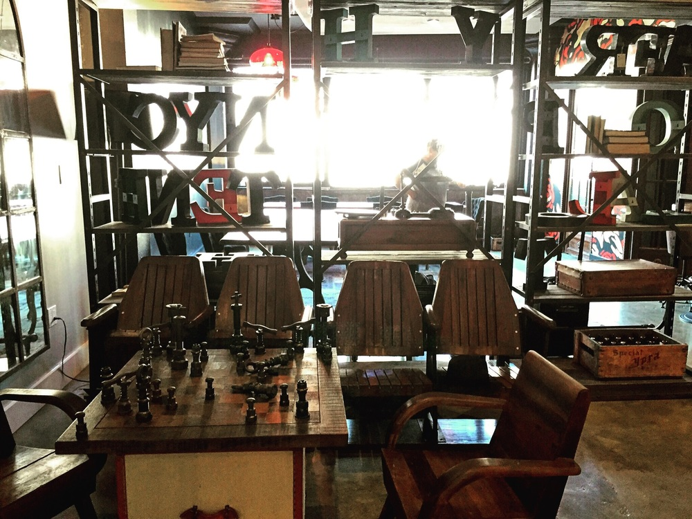 See that wonky chess set? It's made of factory screws.