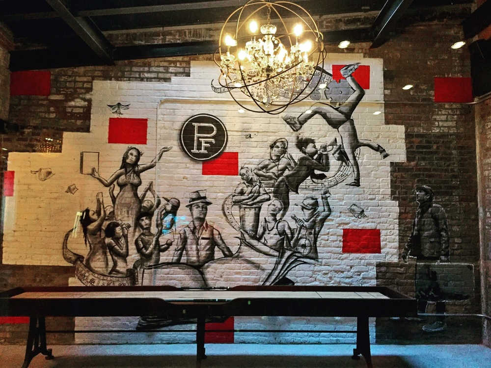 Murals painted by local artists are found on each of the 5 floors.Go explore all of them!