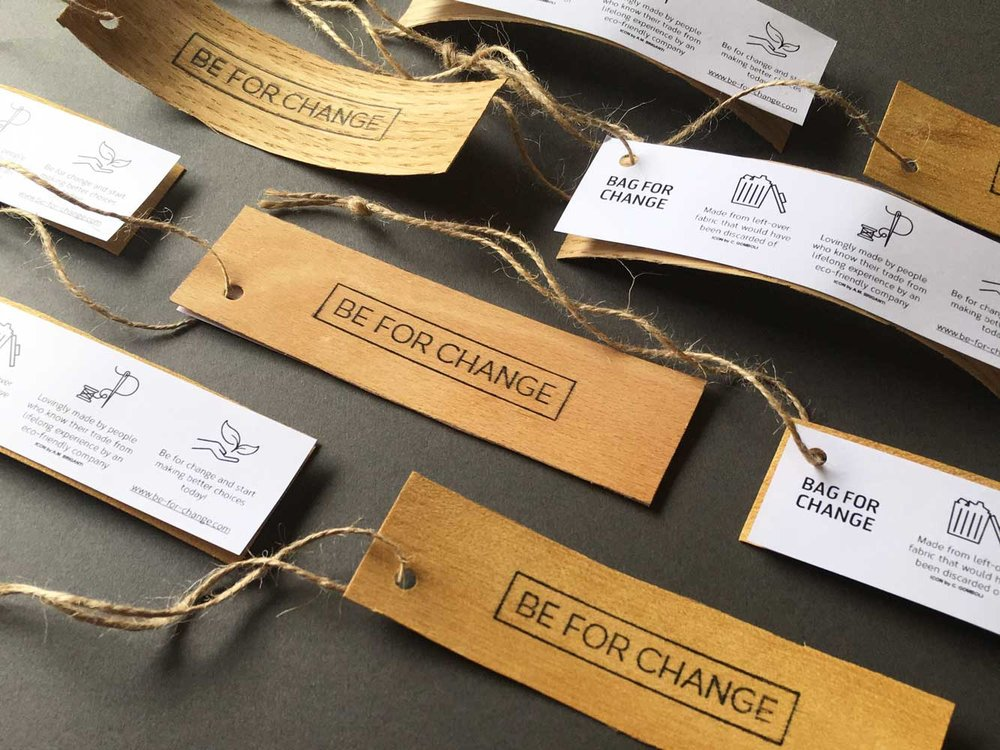 upcycled sustainable wooden tags