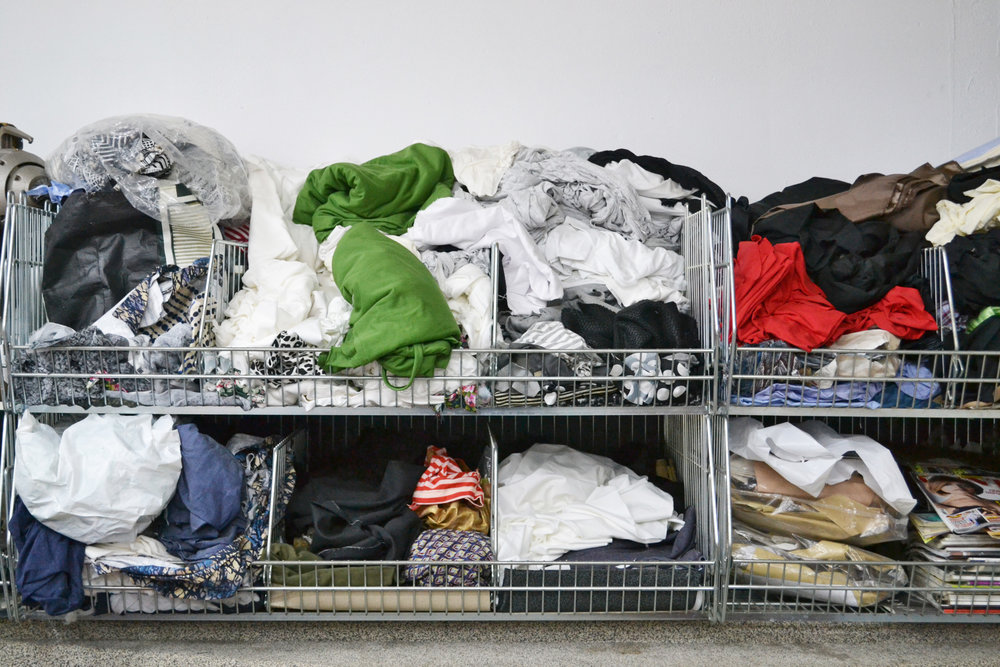 Fabric waste at the company that produces our bags - one man's waste is another man's treasure