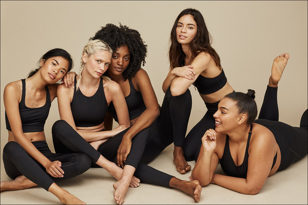 The sustainable bras and leggings made from recycled PET by Girlfriend Collective