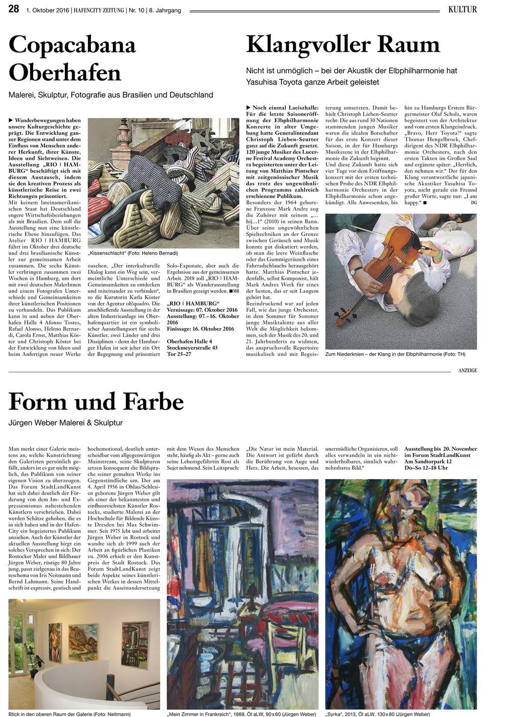Hafencity Zeitung N0. 10 / 2016