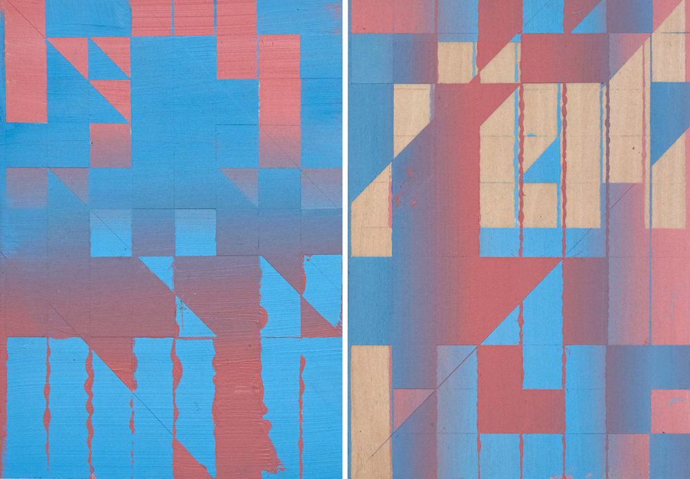 Rafael Alonso, Ida e volta  Acrylic paint on plywood, 21x39cm 2016