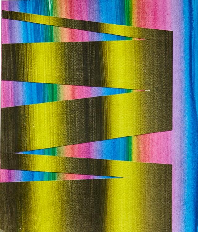 Rafael Alonso, Pintura de intervalo  Acrylic paint on plywood, 20x22cm 2016