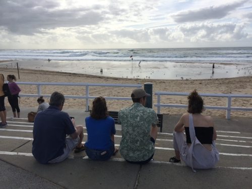My family at Nobby's Beach
