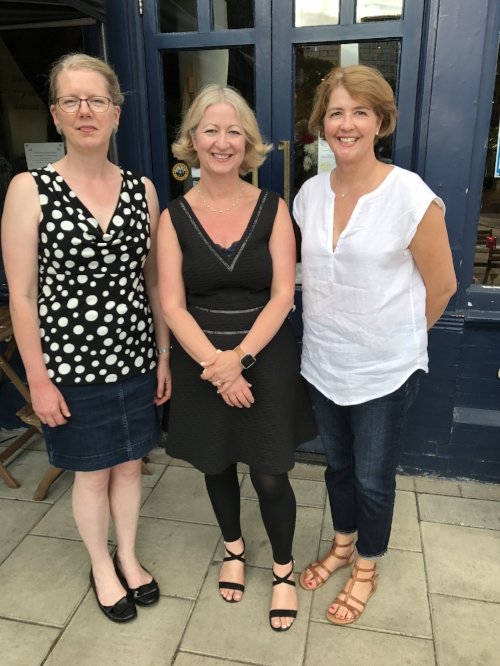 Emma Darwin, Jacqui Lofthouse & me, Kellie Jackson.