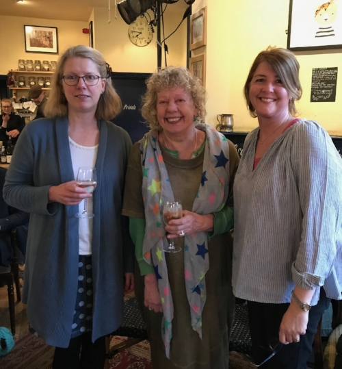 With Emma Darwin on the left & Michèle Roberts, centre.