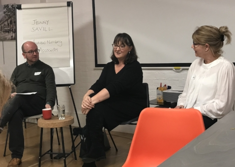 With Andrew Wille & Jenny Savill (centre) for a Q&A