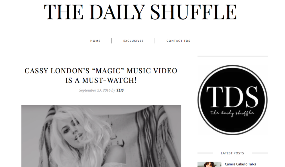 The Daily Shuffle - Could pop have a brand new princess? Cassy London's definitely in the running for the throne! Born and raised in Southern California, the singer-songwriter is making her mark in the music biz.