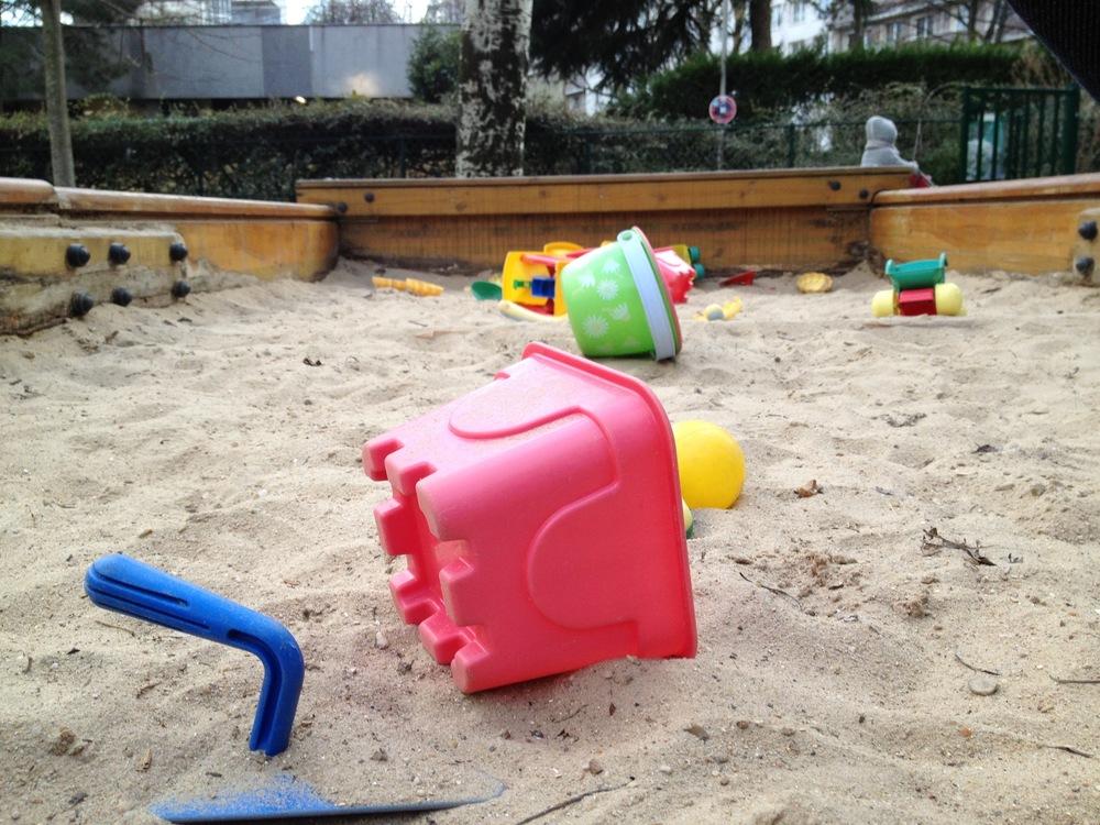 le bac à sable extérieur