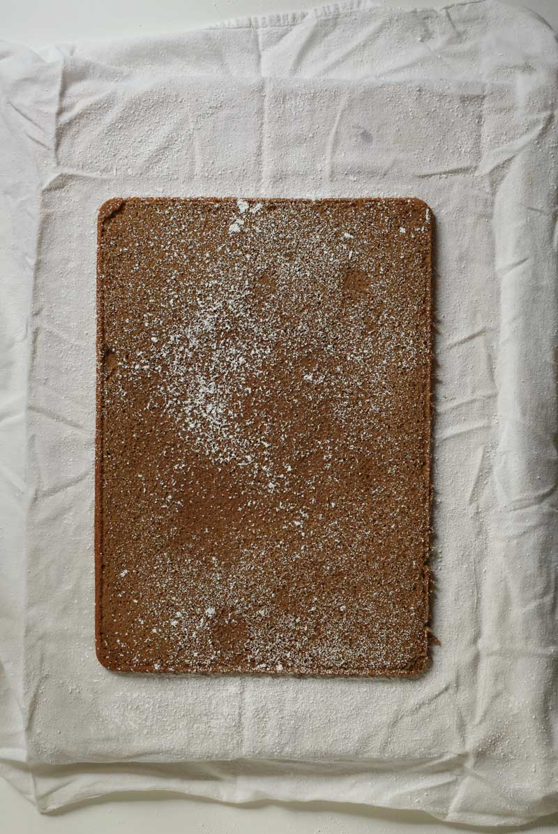 turn cake onto towel