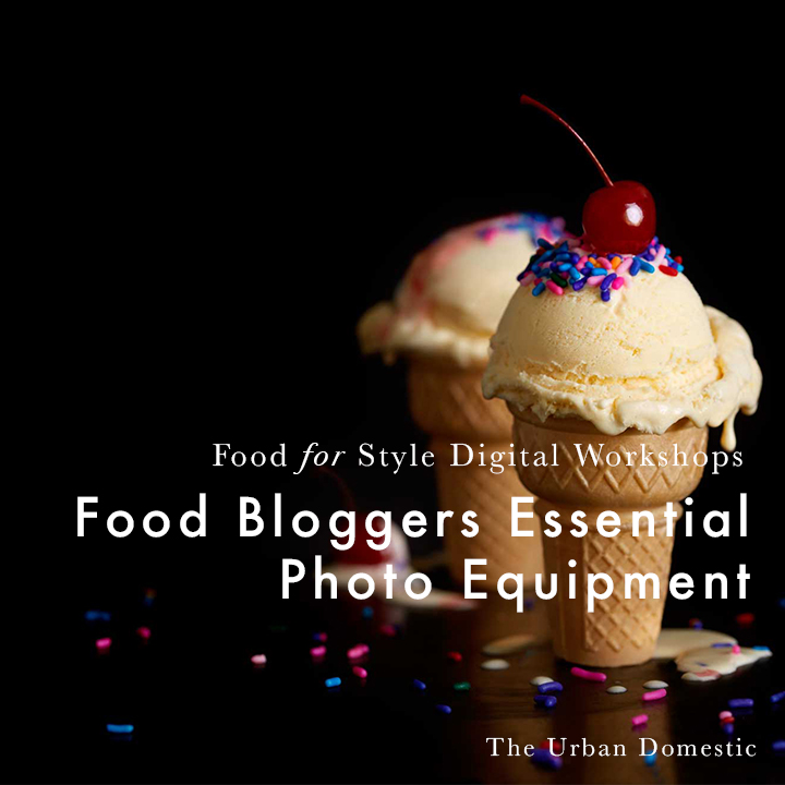 Food Blogger's Essential Photo Equipment Eight pieces of pro photo studio equipment to make your at-home studio more legit.