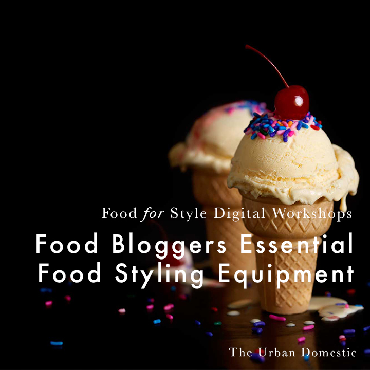 Food Blogger's Essential Food Styling Kit 12 key tools found on every food stylist's set tray .