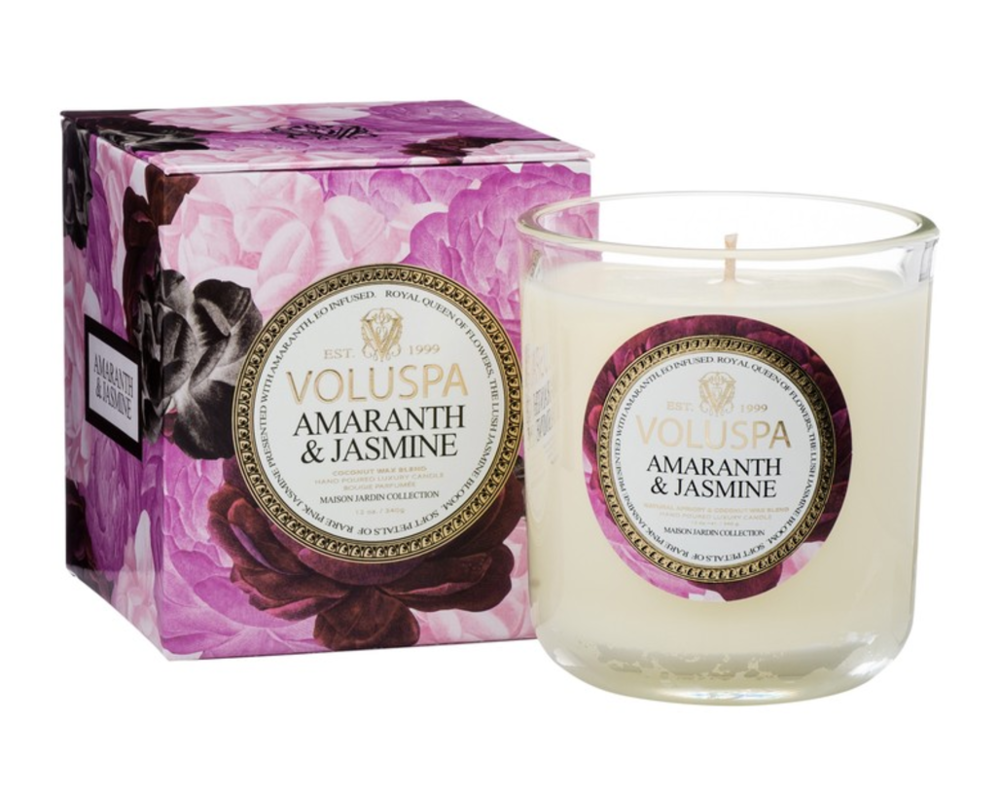 Voluspa Classica Maison Candle: Amaranth & Jasmine