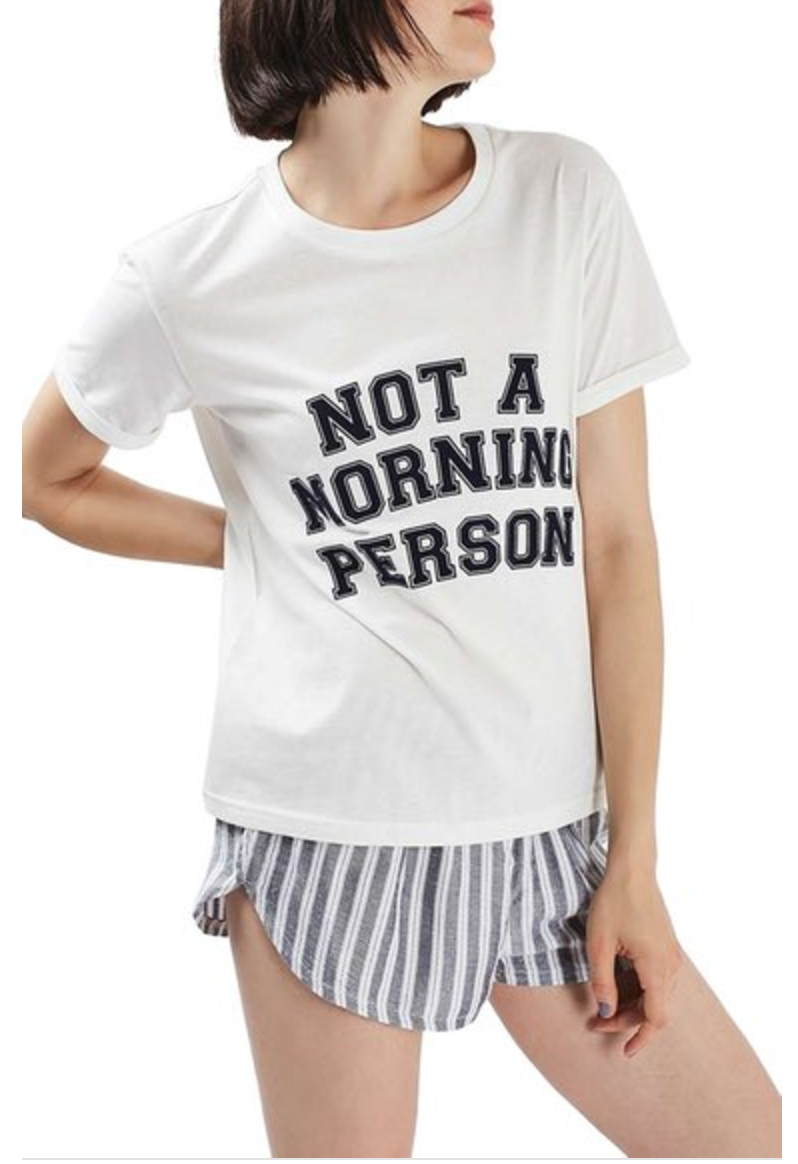 Topshop Not a Morning Person Short Pajamas