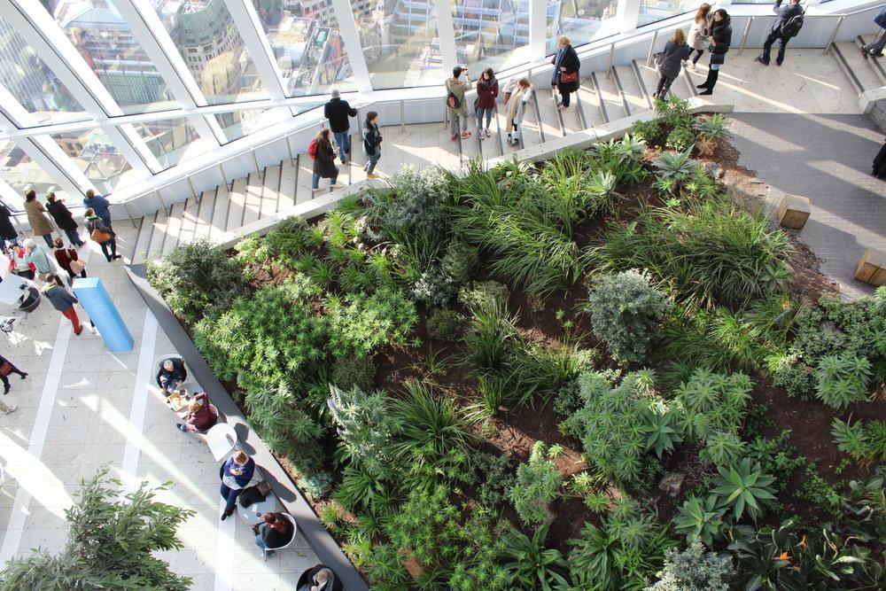 Inside Sky Garden