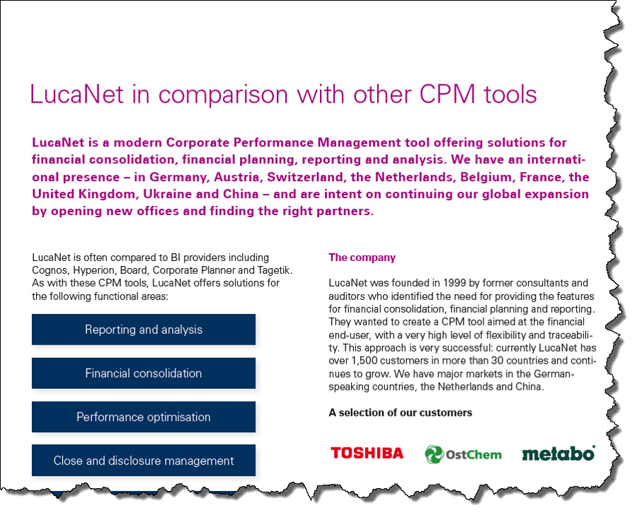 LucaNet vs CPM Tools
