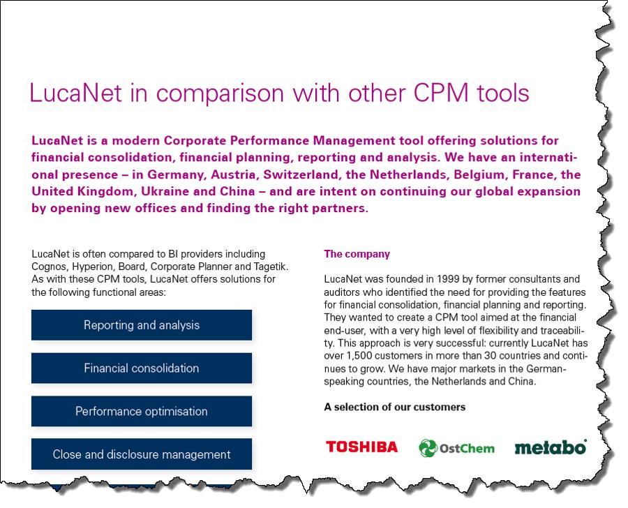 LucaNet vs CPM Tools
