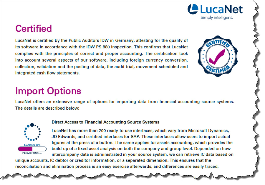 LucaNet Advantage