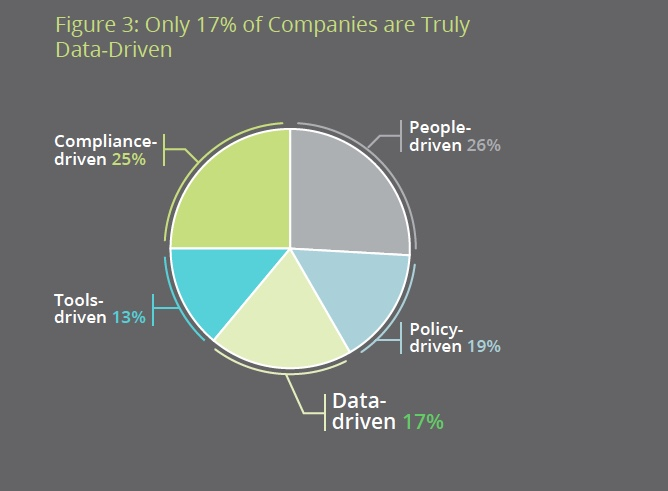 Conducted between June and July 2013, research findings fromLoudhouse Research, clearly demonstrated that despite the importance of data, only 17% of companies are truly data driven.