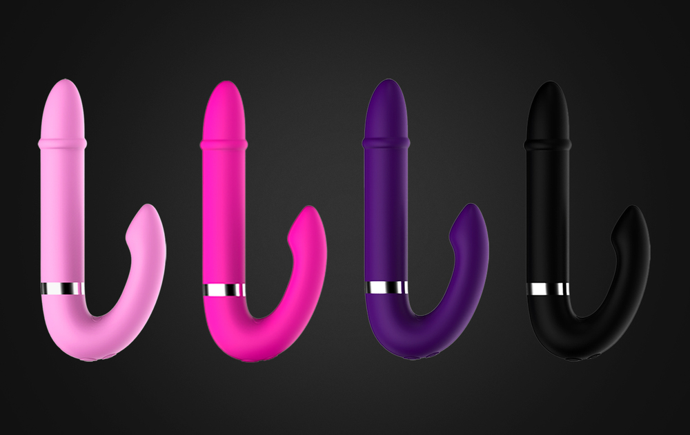 Dildo Double Vibration Charging Sex Toys wanita terbaru