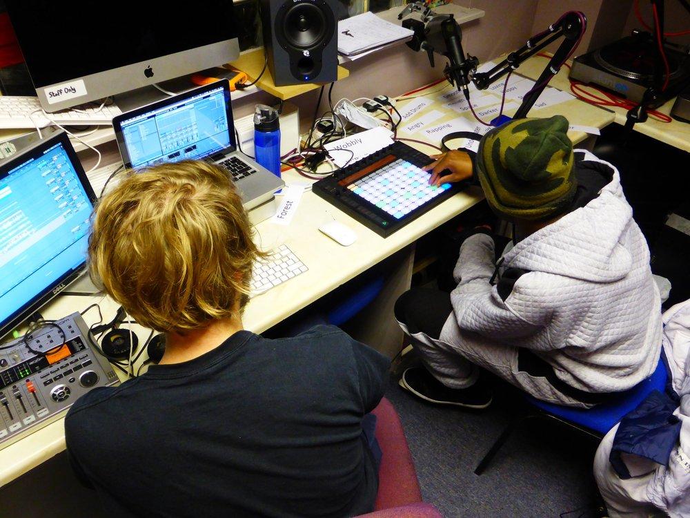 Delson in the studio