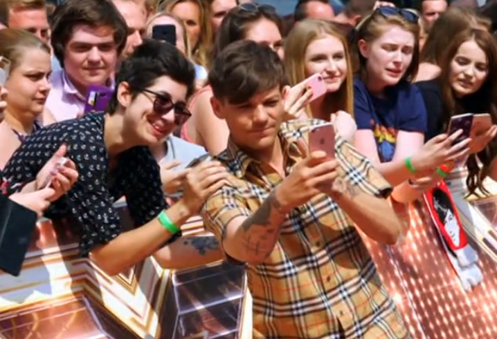 Louis on the red carpet
