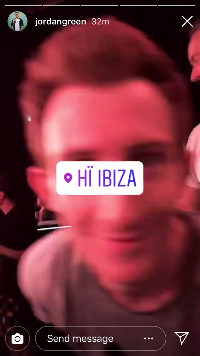Photo taken by Louis' photographer of Louis' friend in Ibiza