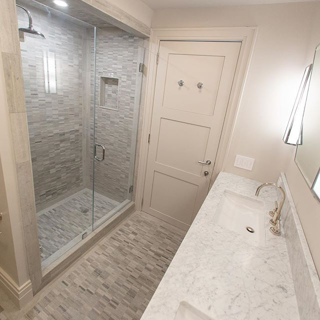 A few shades of gray #bathroom #renovation #tiles #custom #bespoke #interiordesign #homeimprovement #luxury #details