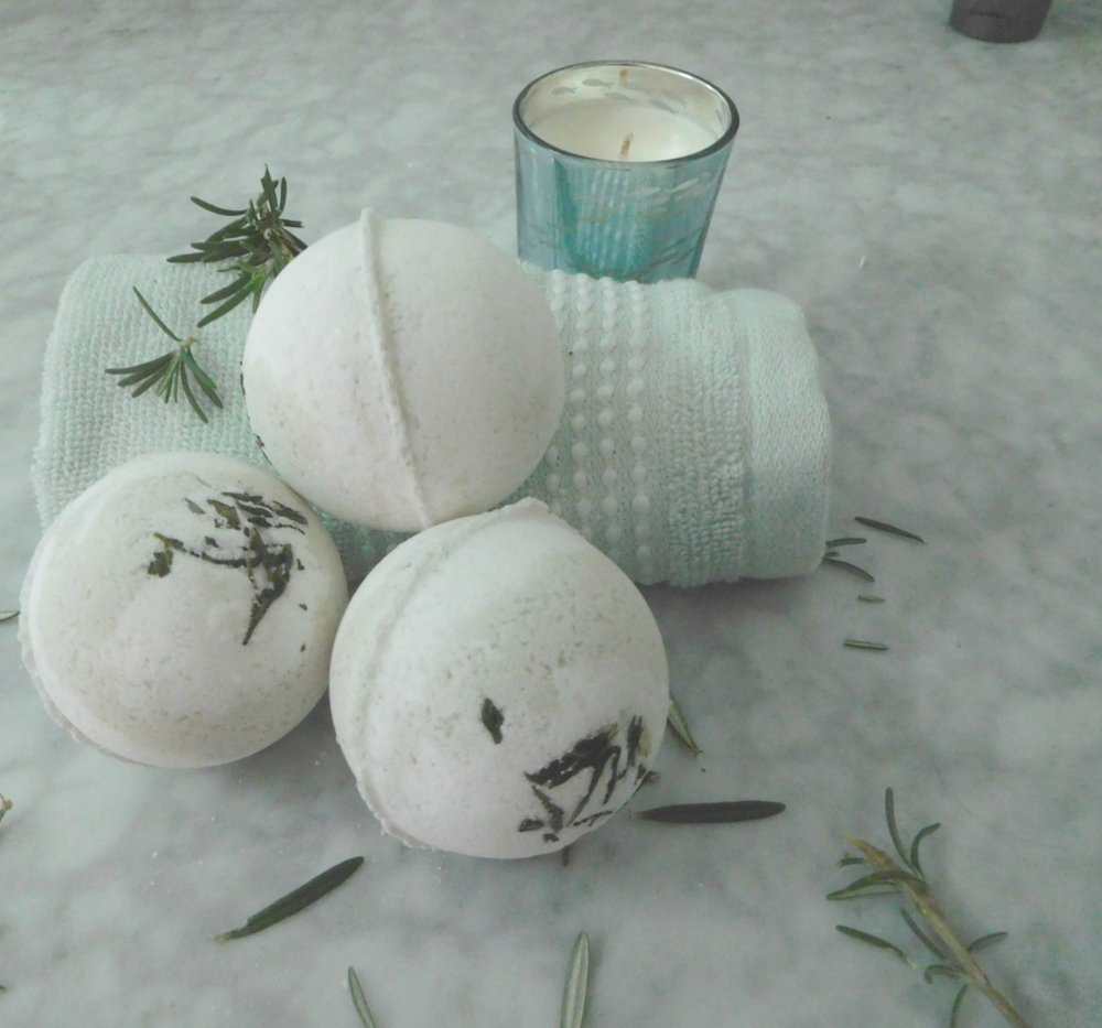 bath bomb lime and spearmint