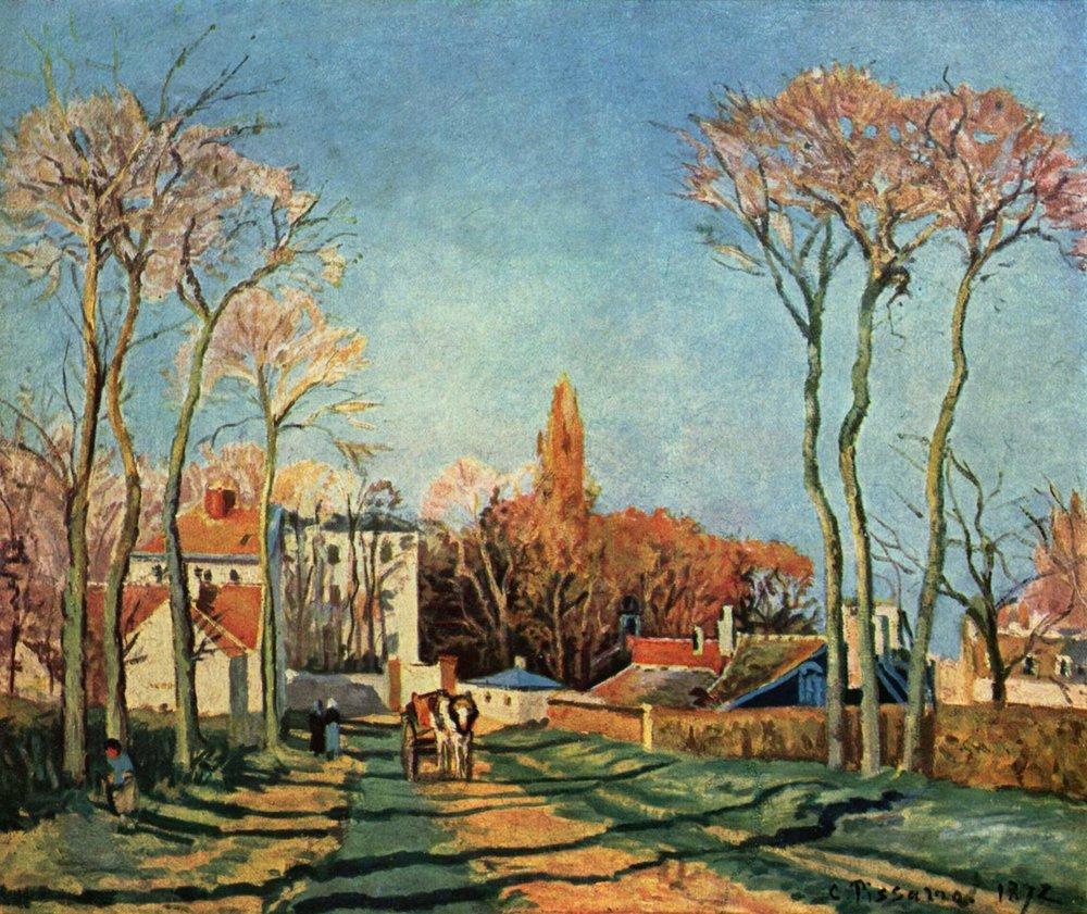 Camille_Pissarro_Entrée du village de Voisins 1872.jpg