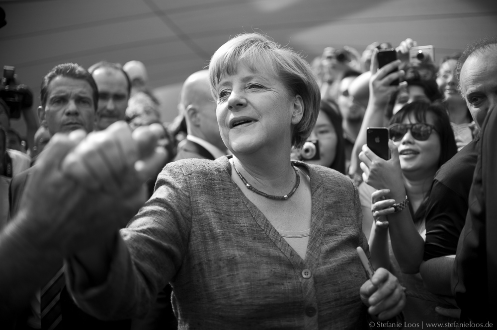 Angela Merkel beim Tag der offenen Tür