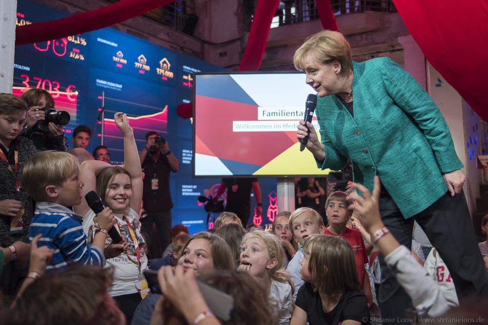Kinderpressekonferenz mit Angela Merkel
